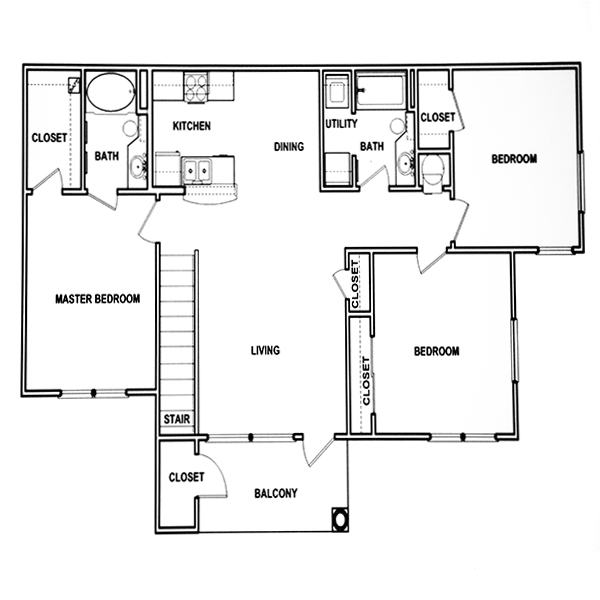 Stone Creek Apartments: FLOOR PLANS